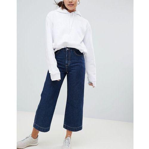 Weekday Wide Leg Denim Trouser - Blue, kolor niebieski