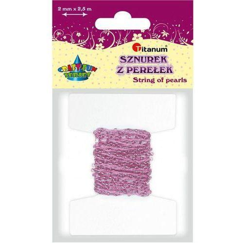 Perełki na sznurku 2mm 2,5m różowe CRAFT-FUN - różowe (5907437687819)