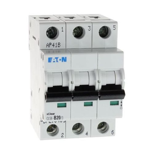 Wyłącznik nadprądowy 3P CLS6 B 20A 6kA AC 270409 Eaton Electric (9007912355809)