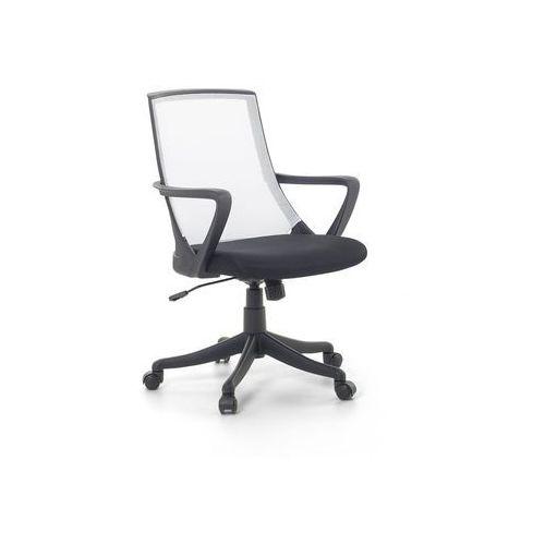 Beliani Krzesło biurowe białe - fotel biurowy obrotowy - meble biurowe - ergo