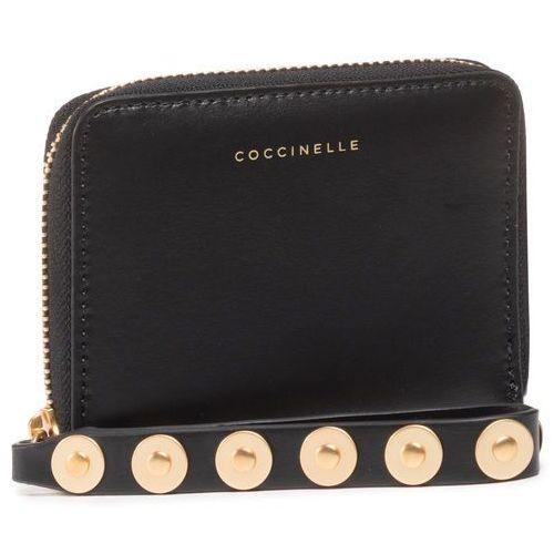 Coccinelle Mały portfel damski - linea f0b fenice coin e2 fob 11 a2 01 noir 001