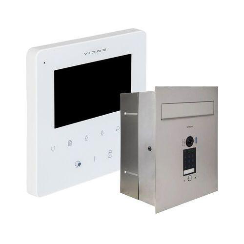 Zestaw wideodomofonu cyfrowego skrzynka na listy s1401d-skp m1022w-2 marki Vidos