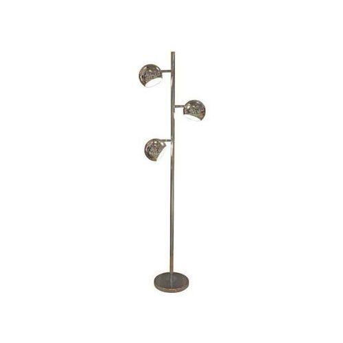 Azzardo Retro lampa podłogowa trinton ts-061120f metalowa oprawa stojąca kopuły kule chrom