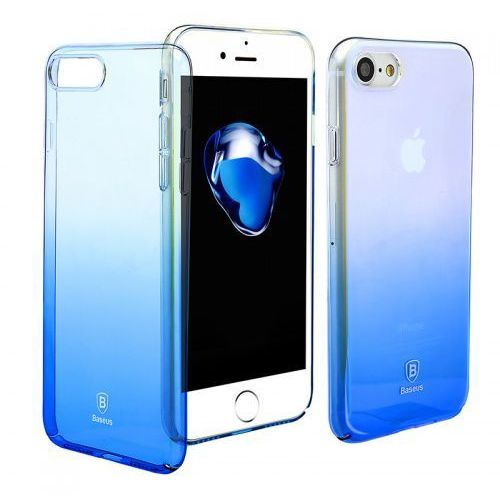 Baseus Glaze Case etui ombre iPhone 8 / 7 niebieskie (6953156251199)