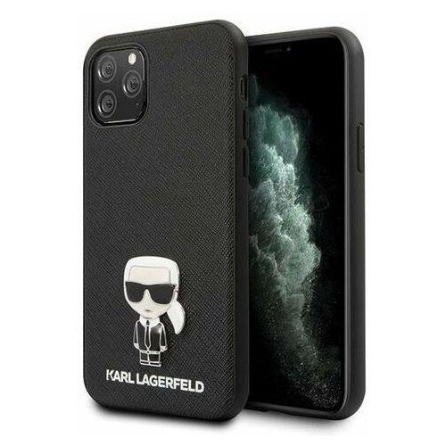 Etui Karl Lagerfeld KLHCN58IKFBMBK iPhone 11 Pro hardcase czarny/black Saffiano Ikonik Karl Lagerfeld / KF000307 KF000307, 10_16424