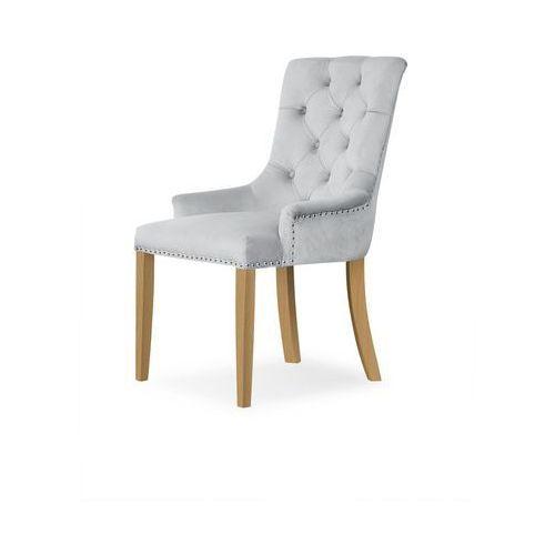 Krzesło august srebrny/ noga dąb/ bl03 marki Atreve