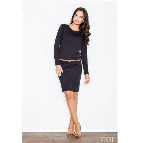 Sukienka m414 black, Figl