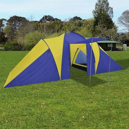 namiot 6 osobowy granatowo-żółty marki Vidaxl