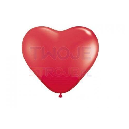 Twojestroje.pl Balon lateksowy pastel czerwony serce 23 cm 1szt. (7501060415214)