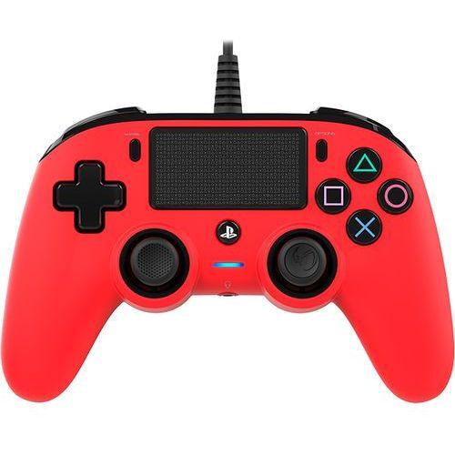 Kontroler BIGBEN Nacon Compact Czerwony (PS4) + DARMOWY TRANSPORT! (3499550360714)