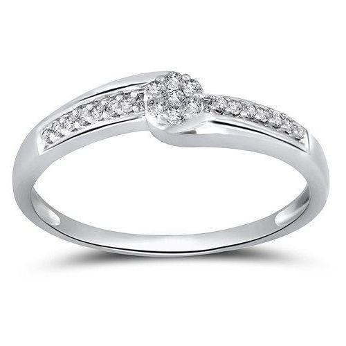 Złoty pierścionek PBD3809 - Diament
