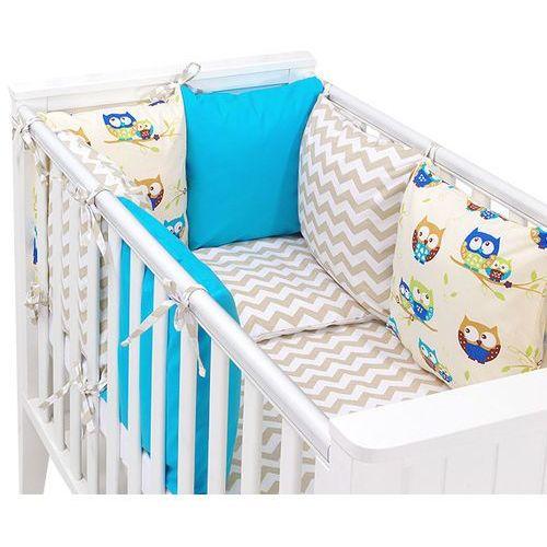 14-el pościel do łóżeczka z ochraniaczem modułowym - zestaw 33 marki Mamo-tato