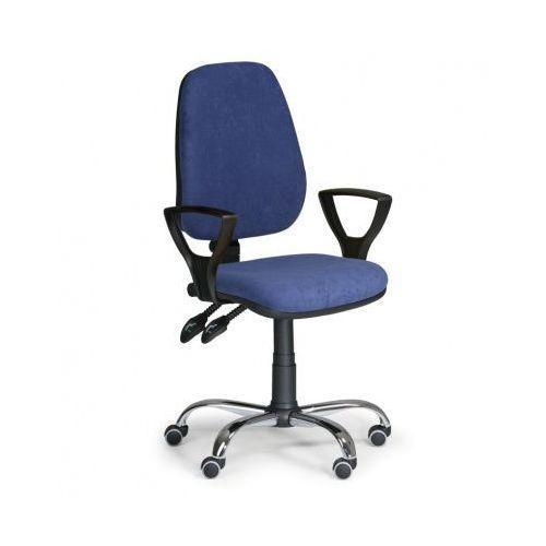 Krzesło biurowe COMFORT z podłokietnikami - niebieske