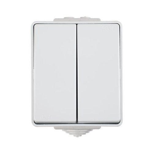 Włącznik podwójny SZARY IP65 WATERPROOF EFAPEL (5603011540869)