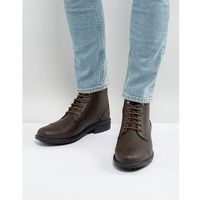 milled lace up boots in brown - brown, Brave soul