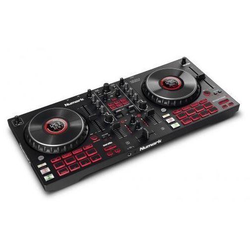 mixtrack platinum fx - 4-kanałowy kontroler dj z wyświetlaczami marki Numark