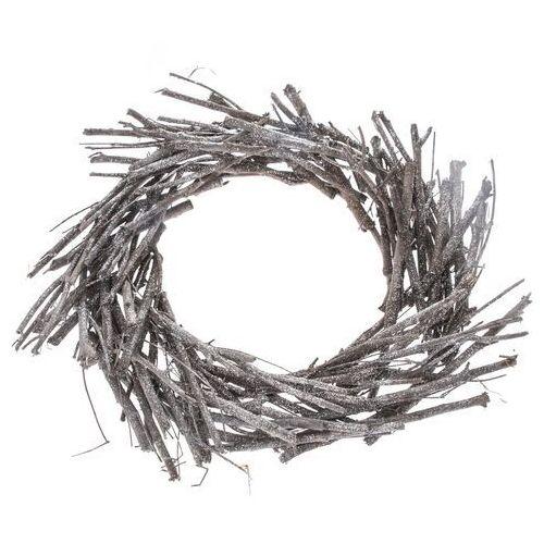 Wieniec dekoracyjny wiklinowy, śr. 40 cm, szary, 690381