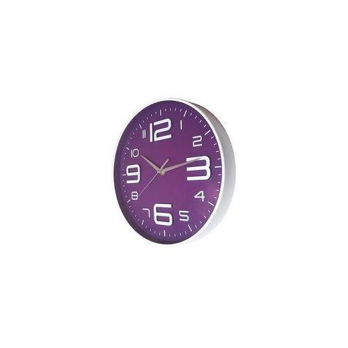Atrix Nowoczeny zegar ścienny alfa fioletowy
