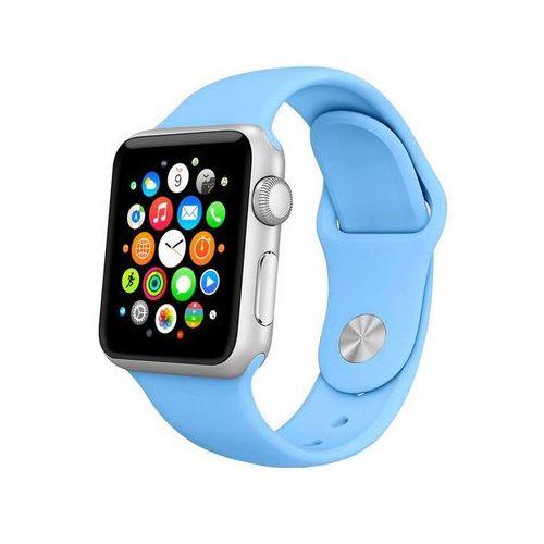NIEBIESKIE Sportowy silikonowy pasek do Apple Watch 42mm - Niebieski