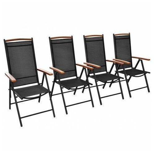 Elior Komplet ogrodowych krzeseł składanych amareto 4 szt.