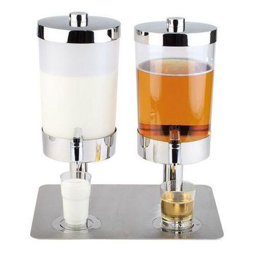Dyspenser podwójny 2 x 6 litrów SUNDAY mleczny APS-10864