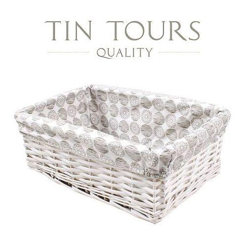 Tin tours sp.z o.o. Wiklinowa szuflada z wyszyciem 37x24x13h cm