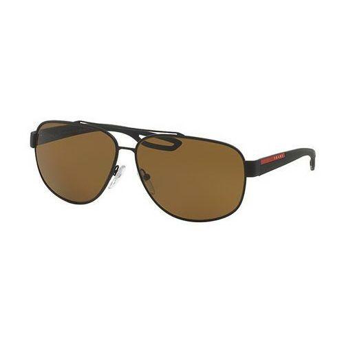 Prada linea rossa Okulary słoneczne ps58qs lj silver polarized dg05y1