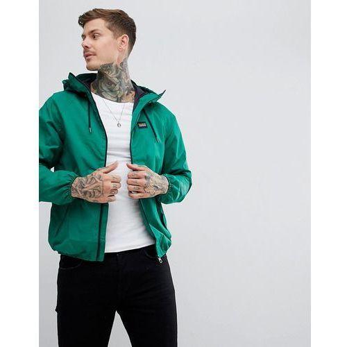 Pull&bear waterproof hooded jacket in green - green