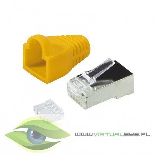 LogiLink Wtyki RJ45 CAT.6 z osłoną, 100szt. ekranowane, żółty (4052792043501)