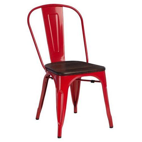Krzesło Paris Wood czerwone sosna szczot MODERN HOUSE bogata chata, 94444