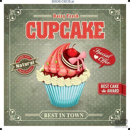 Obraz cupcake zielony ptd096t1 marki Consalnet