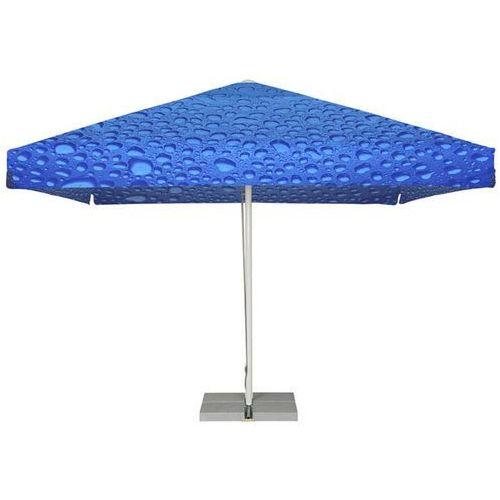 Parasol Ogrodowy kwadratowy 4x4m - Bąbelki Niebieskie