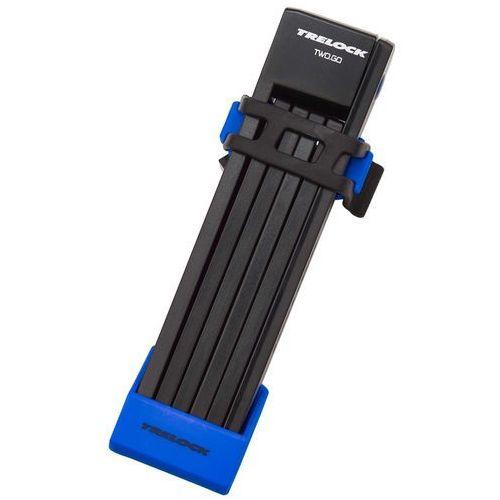 Trelock fs 200 two.go l zapięcie kablowe 100 cm niebieski zapięcia składane (4016167048461)