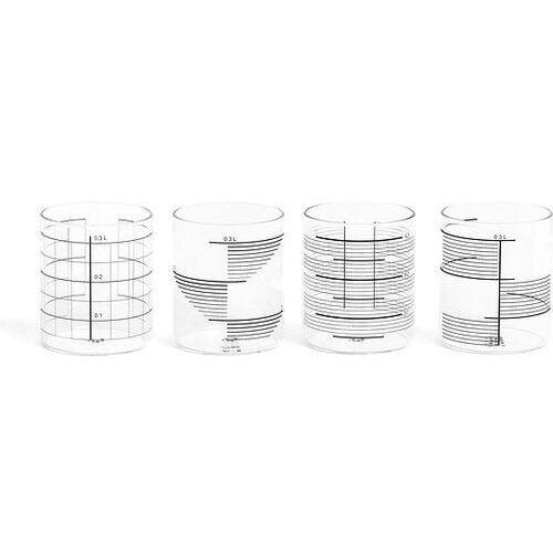 Szklanki 0,3 l w komplecie 4 szt. mix marki Tre