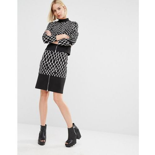 printed co-ord skirt with zip detail - multi marki Cheap monday