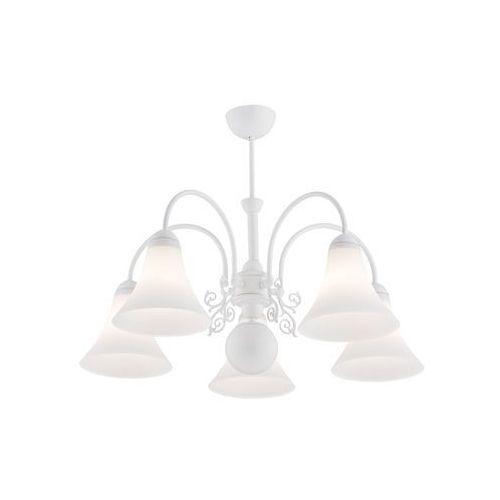 Lampa wisząca Argon Amaretto 2048 zwis oprawa 5X60W E27 biała (5908259947204)