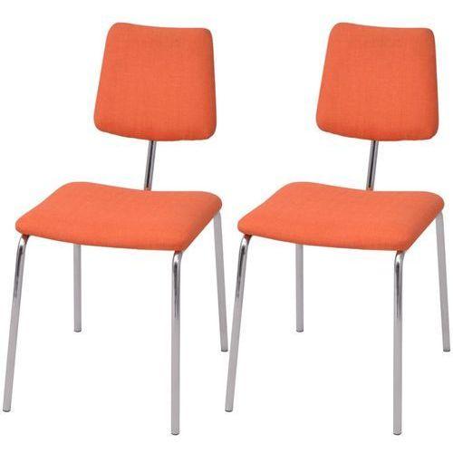 vidaXL Krzesła jadalniane materiałowe, pomarańczowe, 2 szt. (8718475550044)