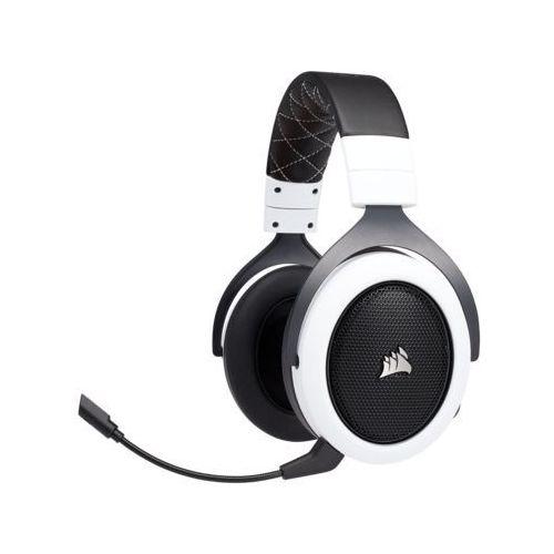 Zestaw słuchawkowy CORSAIR HS70 Gaming Wireless Biały (0843591075411)