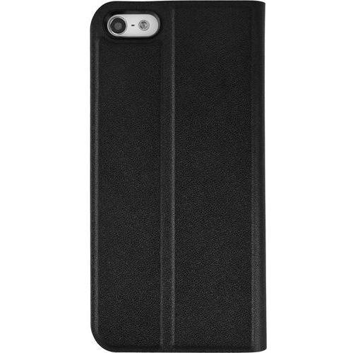 AZURI Ultrathin Booklet Etui iPhone 5/5S/SE czarne, kolor czarny