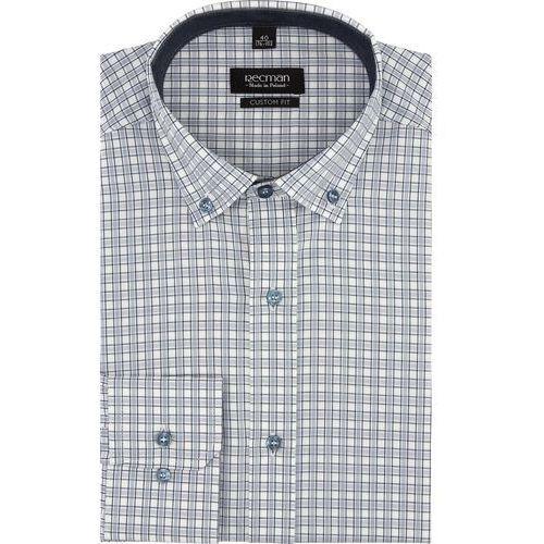 Koszula bexley 2031 długi rękaw custom fit szary marki Recman