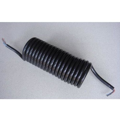 Hybsz Przewód elektryczny spiralny bez wtyczek 7-żyłowy 5m