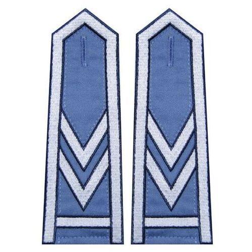 Sortmund Pagony niebieskie do koszuli służby więziennej - starszy sierżant sztabowy (haft)