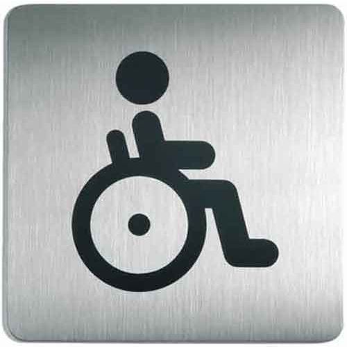 Oznaczenie toalet metalowe kwadratowe - WC dla niepełnosprawnych z kategorii Znaki informacyjne i ostrzegawcze