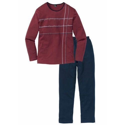 Piżama ciemnoniebiesko-bordowy, Bonprix, S-XL