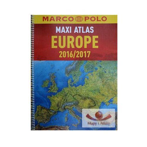 Europa 1:750 000. Maxi atlas samochodowy. Wyd. 2016/2017. Marco Polo