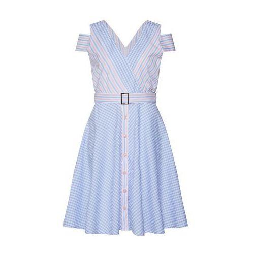 La martina letnia sukienka 'poplin' jasnoniebieski / różowy pudrowy