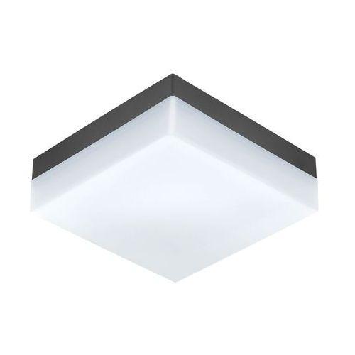 Zewnętrzna lampa sufitowa sonella 94872 kwadratowa oprawa ścienna led 8,2w ogrodowy kinkiet outdoor ip44 antracyt marki Eglo