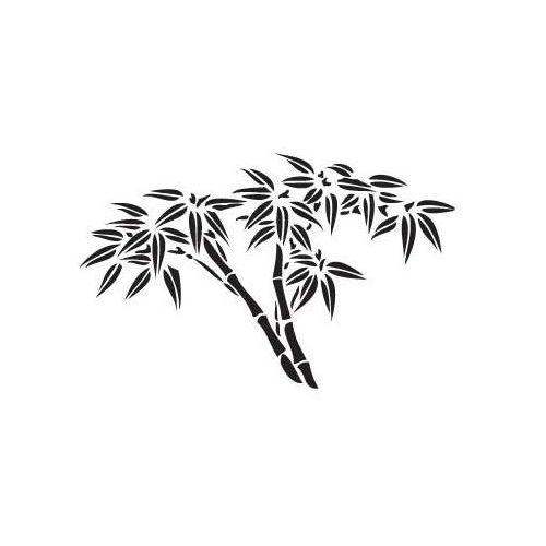 Złap okazję! szablon malarski, wielorazowy, wzór flora 214 - bambus rozm. xxxl marki Szabloneria