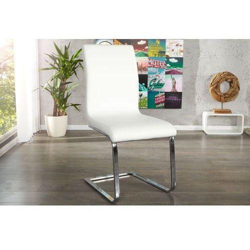 Krzesło hamilton białe - biały, srebrny marki Interior