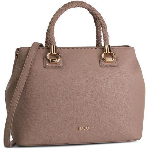 Torebka - l satchel double zip a69027 e0031 nocciola 71418 marki Liu jo